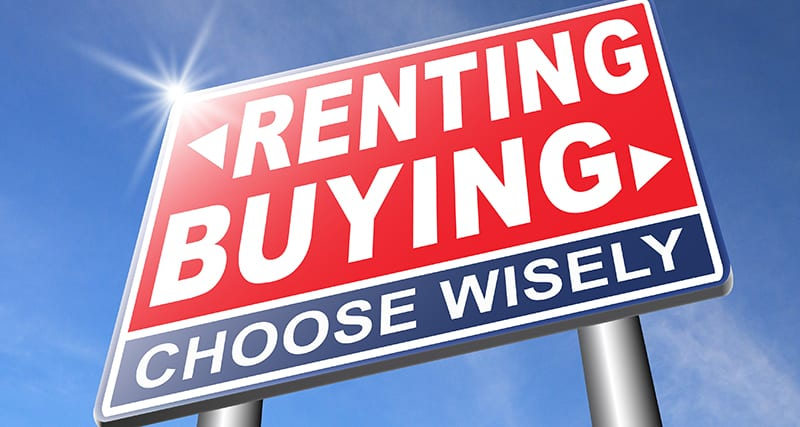 Renting vs buying a home. It's a good question.
